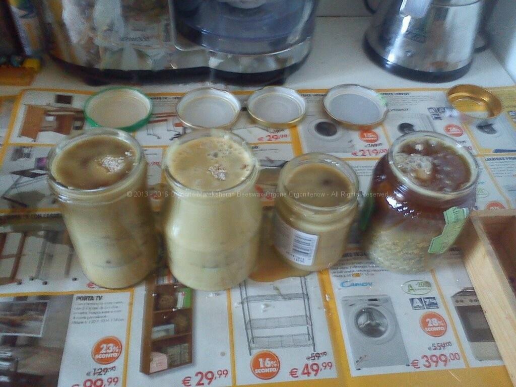 orgonite naturale cera d'api - orgonite water party