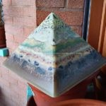 Pyramid orgonite beeswax
