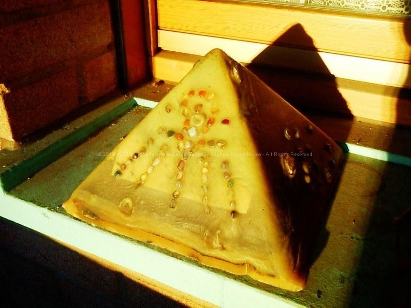 Orgone Pyramid bees wax