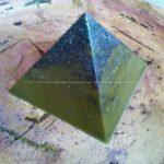 beeswax orgonite pyramid