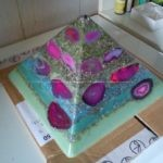 Pyramid Orgonite purple Rain
