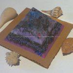 Veganite pyramid quartz tourmaline 004, ecosoywax hyalin quartz and black tourmaline