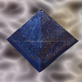 Veganite Pyramid 12 Class 010, soy wax, crystals and minerals, metals