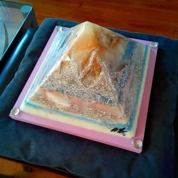 Orgonite Pyramid Coral Reef 24 cm