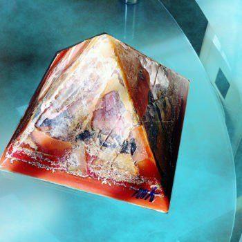 Crystal Cave pyramid orgonite 24 cm side