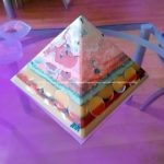 Marek Pyramid Orgonite, 24 cm side, beeswax minerals crystals and metals