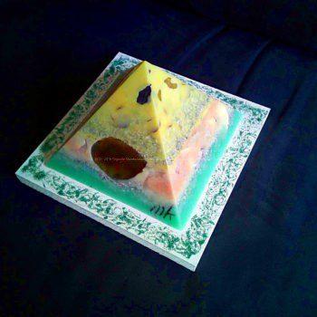 Indigo - Piramide Orgonite Special 17 cm 04