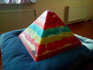 Golden Light 24 cm pyramid orgonite