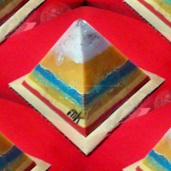 Lente piramide orgonite 12 cm quarzo tormalina 016