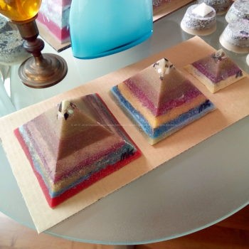 Antigua Giza pyramids orgonite set