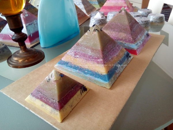 Antigua Giza pyramids orgonite set