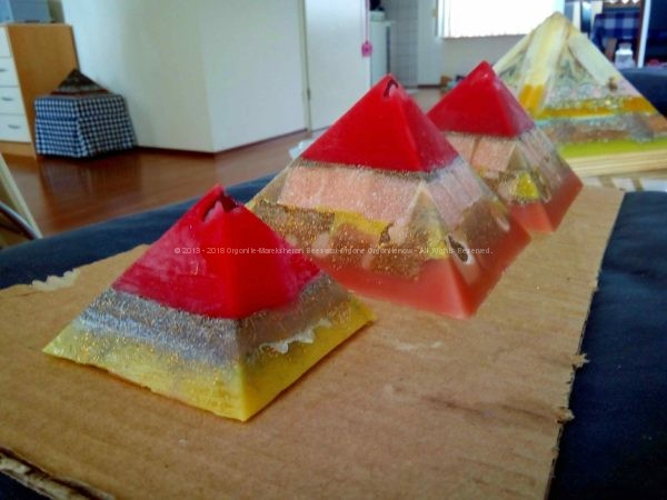 Atlantide Giza pyramids orgonite set
