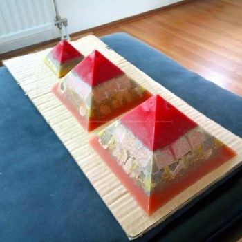 Atlantide Giza pyramids orgonite set