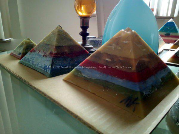 Sahara Giza pyramids orgonite set