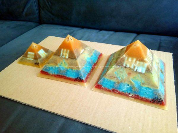Yucatan Giza pyramids orgonite set