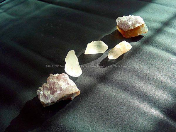 Palenque Gizah pyramids orgonite set