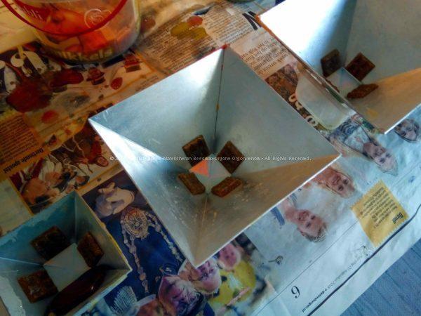 Gizah pyramids orgonite set