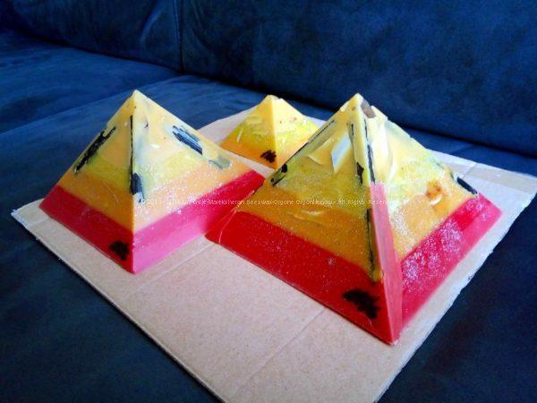 Euganee - Gizah pyramids orgonite set