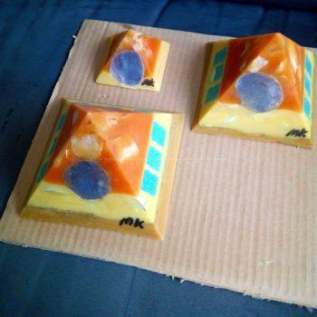 Holbox - Gizah pyramids orgonite set