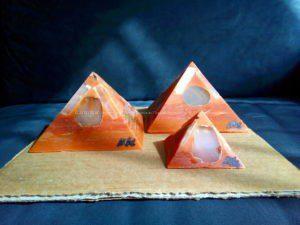 Machu Picchu Gizah pyramids orgonite set