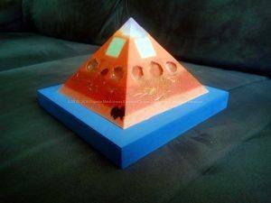 Egean Sea Opalite pyramid orgonite 12 cm 05