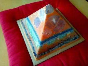 Travels 24 cm pyramid orgonite