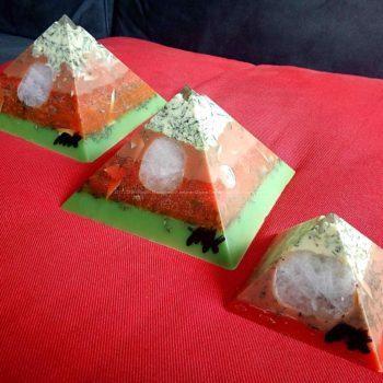 Orgone beeswax pyramids