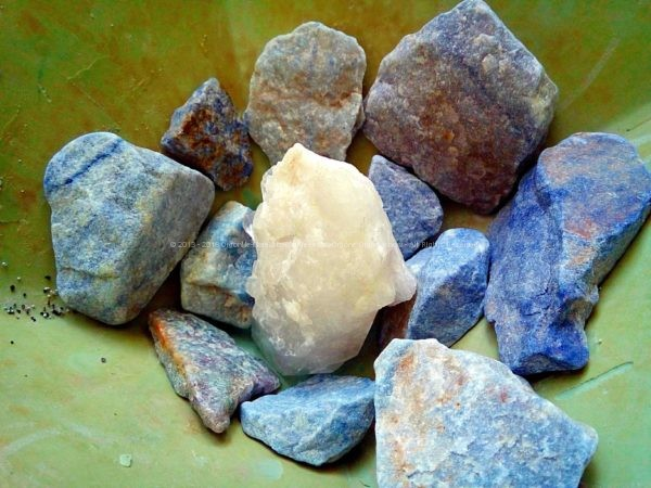 First phase, laser quartz, blue quartz