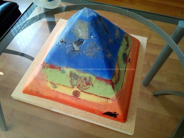 Stugeon Moon 24 cm beeswax pyramid orgonite